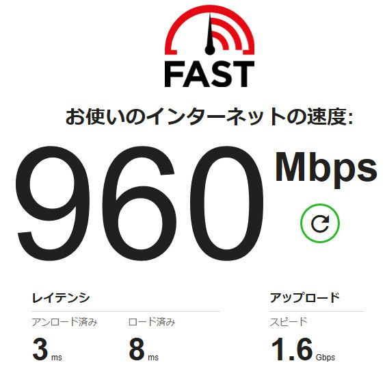 fast.com計測結果