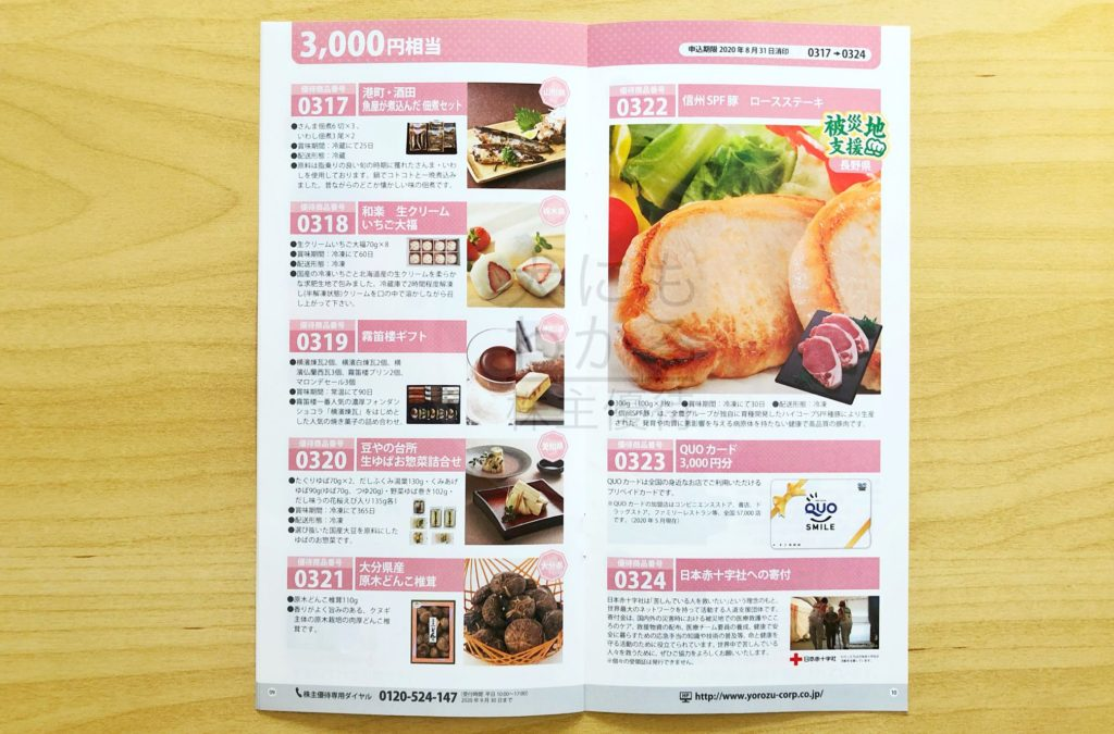 ヨロズ カタログ2020 3,000円相当