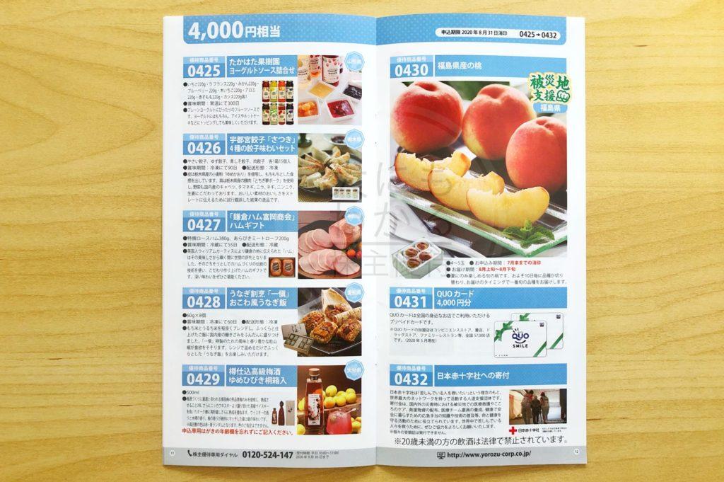 ヨロズ カタログ2020 4,000円相当