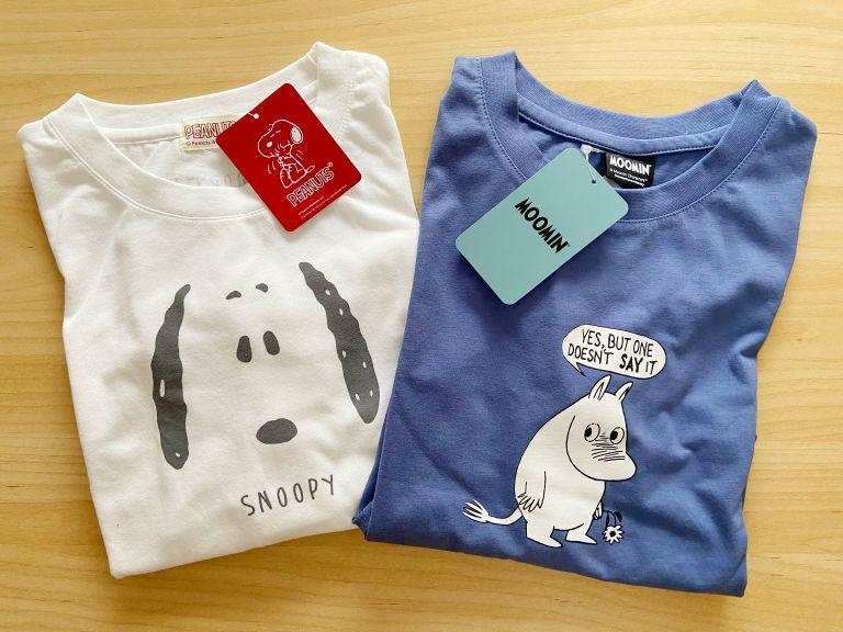 ハニーズ 購入品 スヌーピー ムーミン Tシャツ